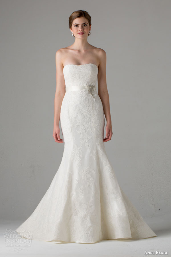 anne barge bridal fall 2015 keira strapless lace mermaid wedding dress