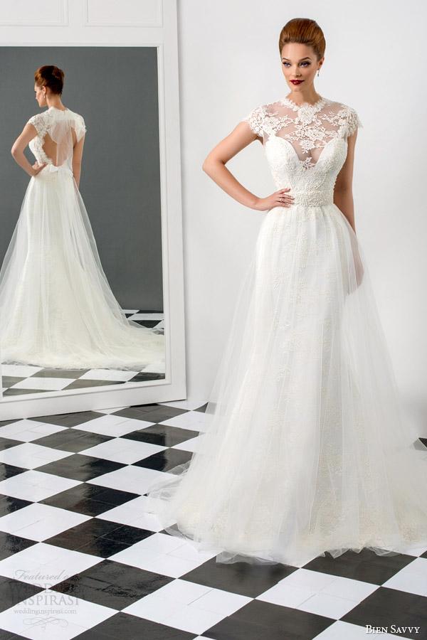 Cap Sleeve A Line Wedding Dress 19 Popular bien savvy bridal sophia