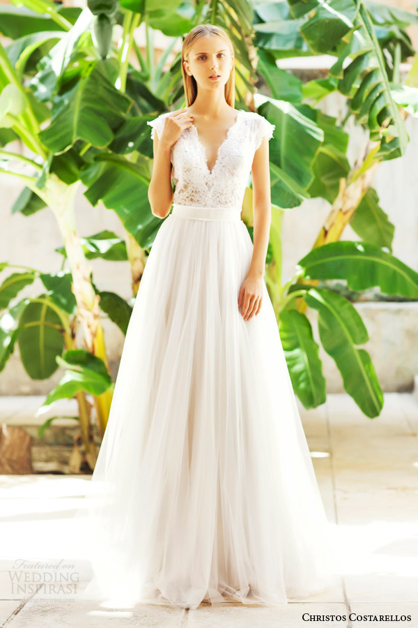 Christos costarellos 2015 wedding dresses wedding inspirasi for Wedding dress skirt and top