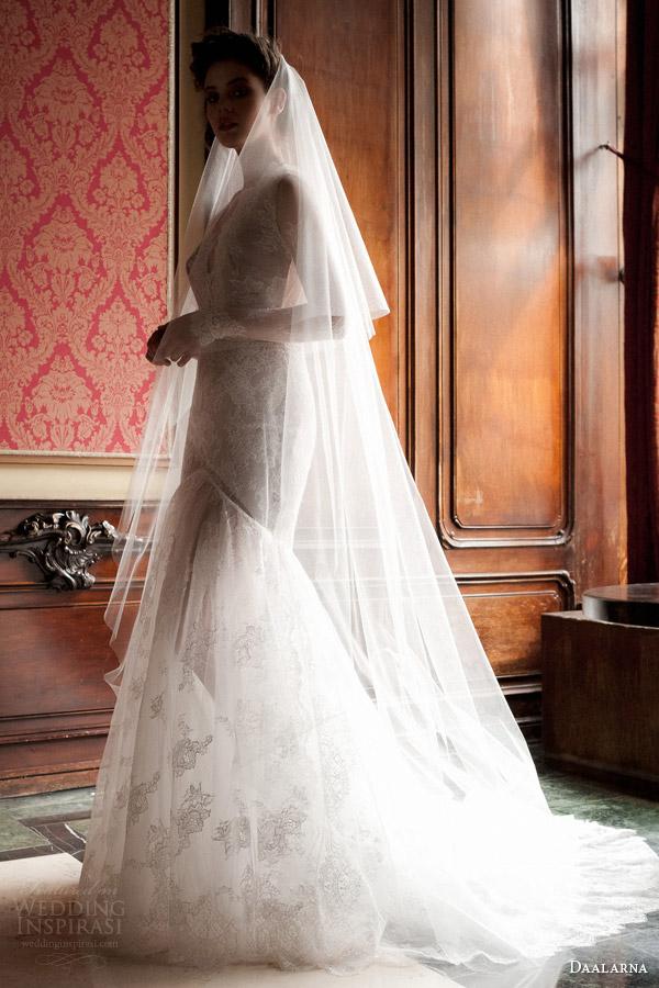 daalarna 2015 pearl bridal collection long sleeve mermaid wedding dres