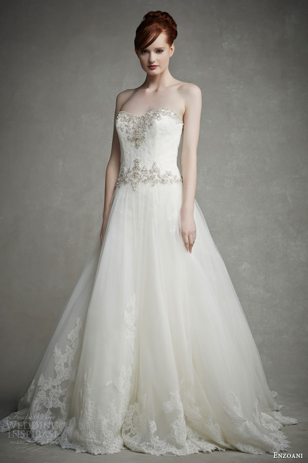 Enzoani Beaded Bodice