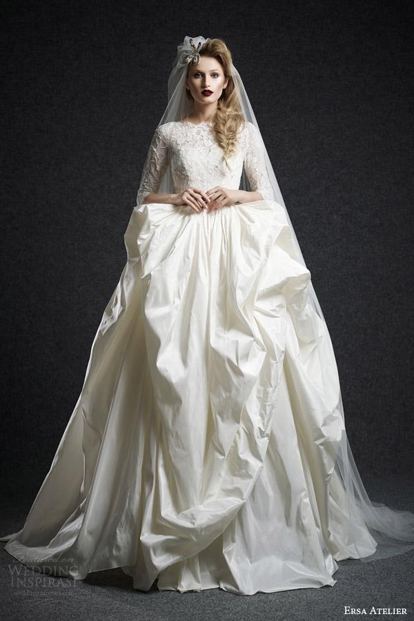 Wedding Gown Long Sleeve 88 Superb ersa atelier bridal fall