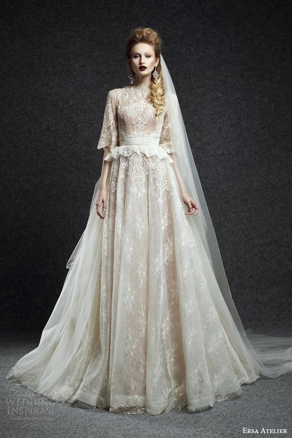 White Gold Wedding Dress 89 Inspirational ersa atelier bridal fall