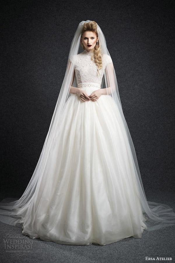 Modest Long Sleeve Wedding Dresses 93 Fancy ersa atelier bridal fall