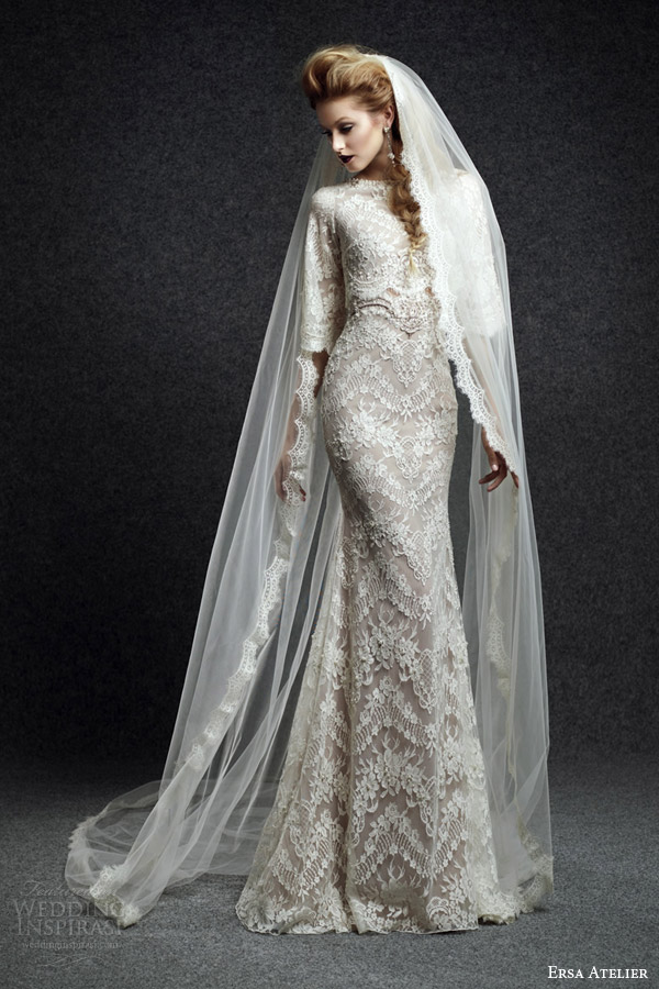 Luxury Lace Wedding Dresses 42 Unique ersa atelier fall bridal
