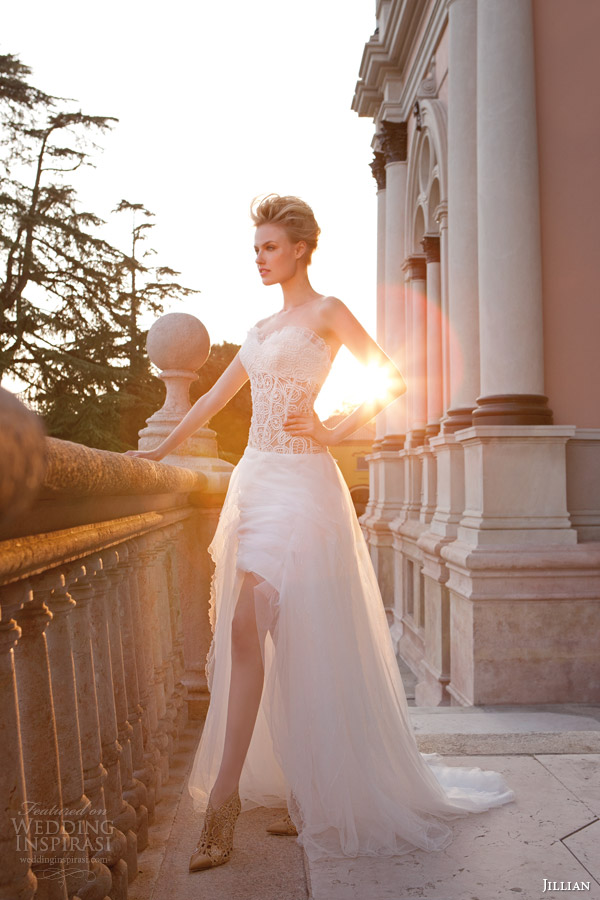 Jillian 2015 wedding dresses iris bridal collection for High low sweetheart wedding dress