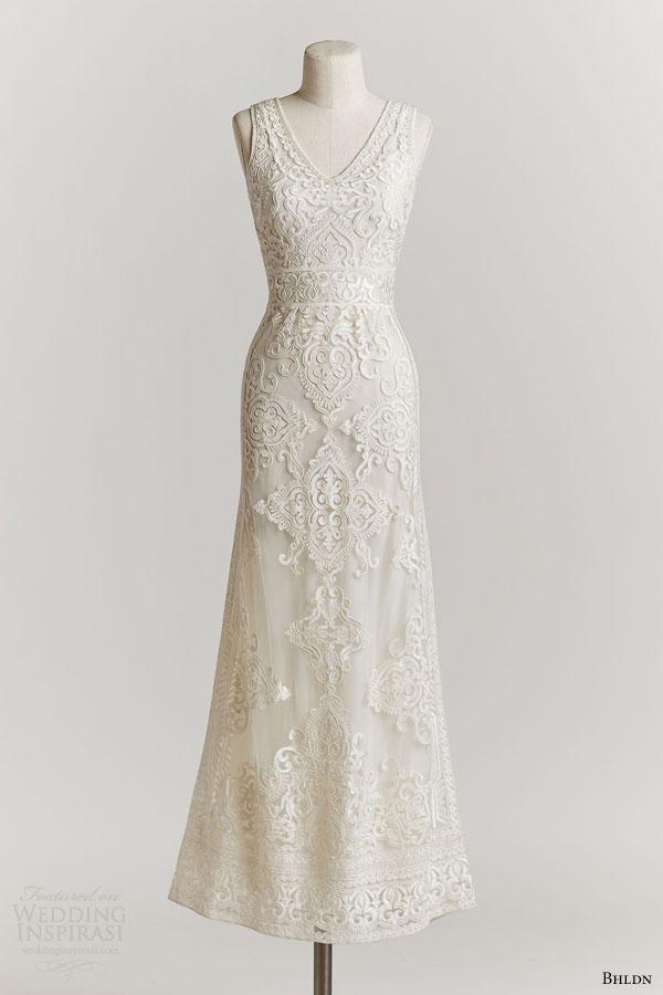 bhldn spring 2015 alhambra lace sleeveless wedding dress soft v neckline