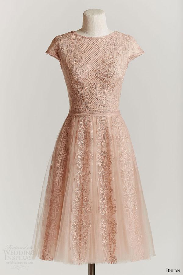 Bhldn spring 2015 wedding dresses wedding inspirasi for Lace blush wedding dress