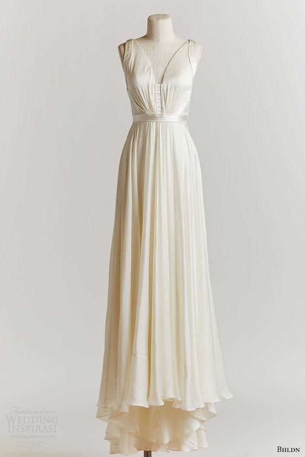 bhldn spring 2015 angel sleeveless wedding dress lace v neckline
