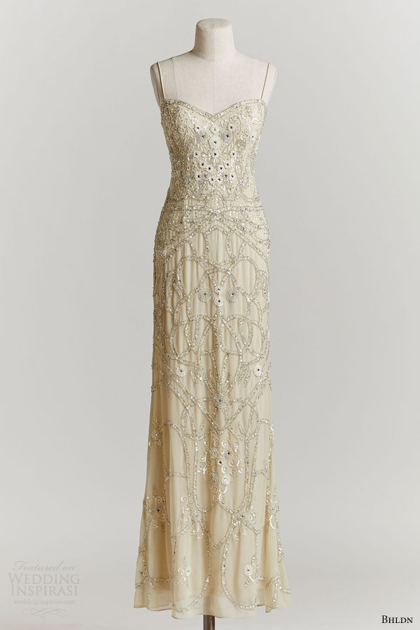 bhldn spring 2015 aria wedding dress 1920s style beaded with straps