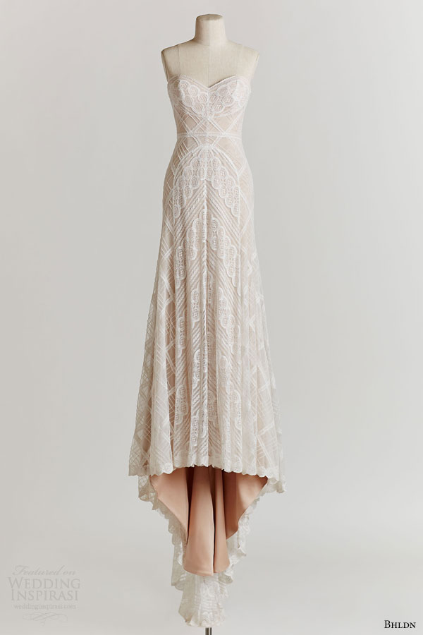 bhldn spring 2015 gia lace gown colored underlay wedding dress sweetheart neckline