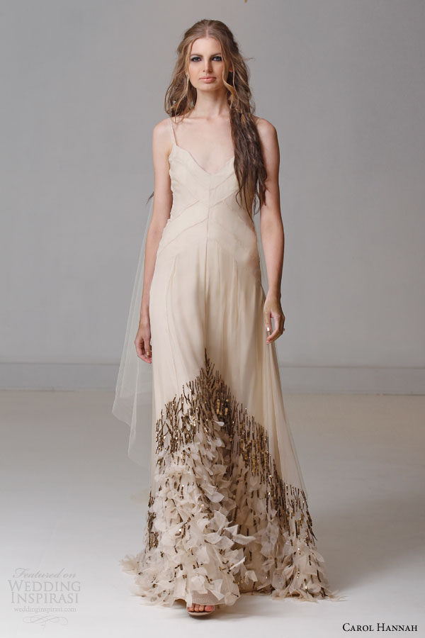 Wedding Dresses Nude 8 Elegant carol hannah bridal alchemist