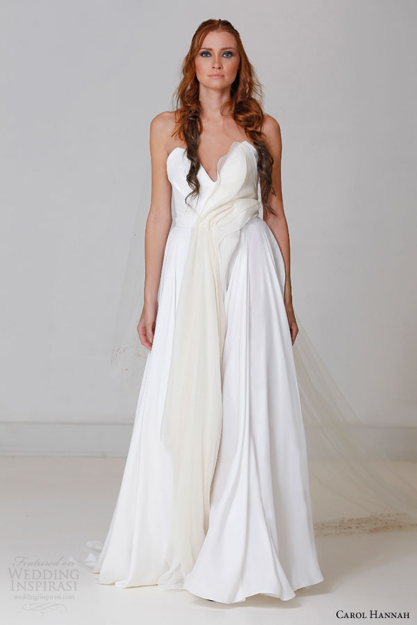 Silk Charmeuse Wedding Dress 8 Stunning carol hannah bridal fall