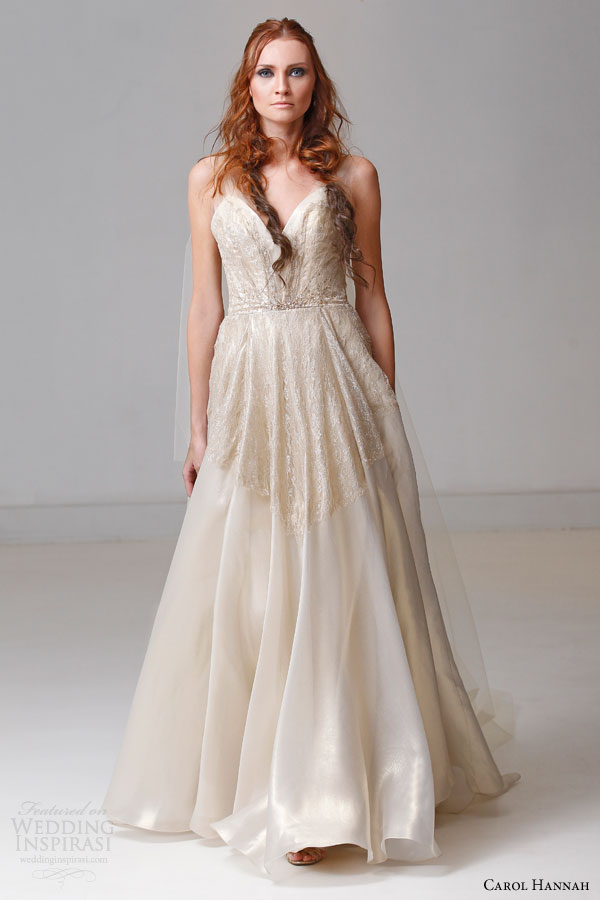 Carol hannah spring 2015 wedding dresses the alchemist for Silk organza wedding dress