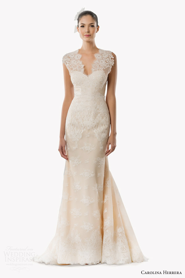 Carolina herrera bridal fall 2015 wedding dresses for Daisy lace wedding dress