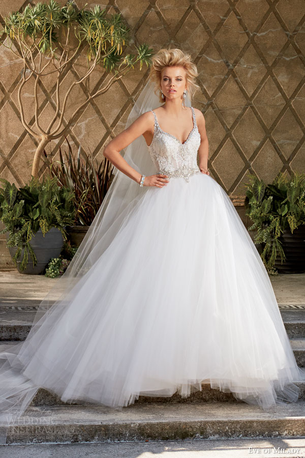 eve of milady fall 2014 2015 sleeveless ball gown wedding dress style 1534