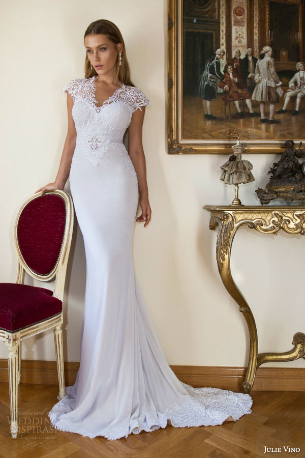 julie vino bridal fall winter 2015 provence eve cap sleeve wedding dress