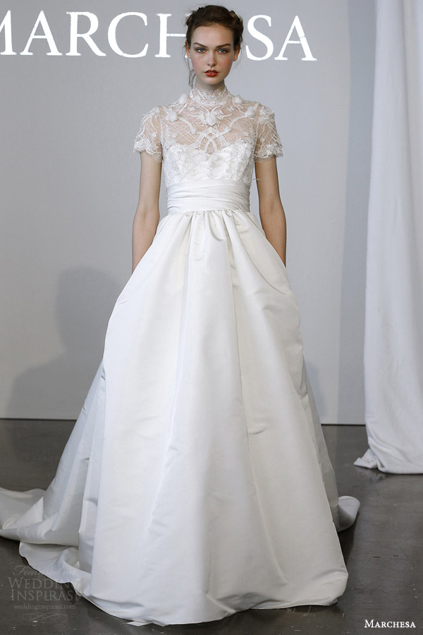 Wedding Gown With Short Sleeves