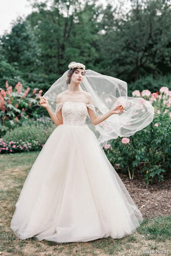 Blush Tulle Wedding Dress 39 Good sareh nouri bridal fall