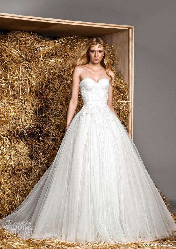 zuhair murad bridal spring 2015 holly strapless sweetheart wedding dress
