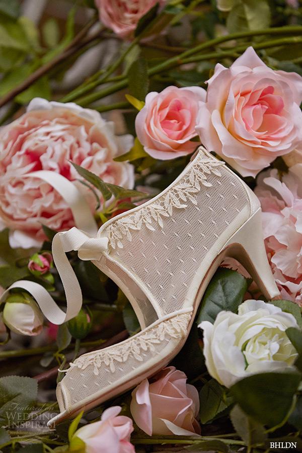 12184276a548 bhldn spring 2015 bridal bohemian satin wrapped medium heel wedding shoes  swiss dot botties