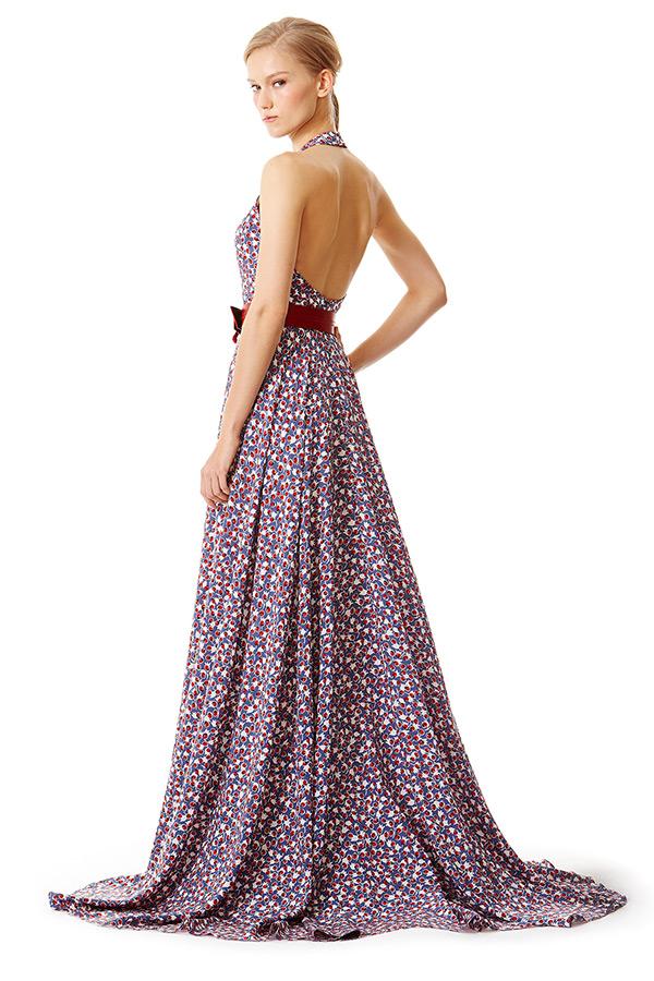 carolina herrera prefall 2015 dresses halter neck a line gown