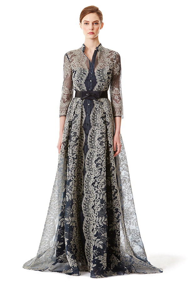carolina herrera prefall 2015 dresses lace gown