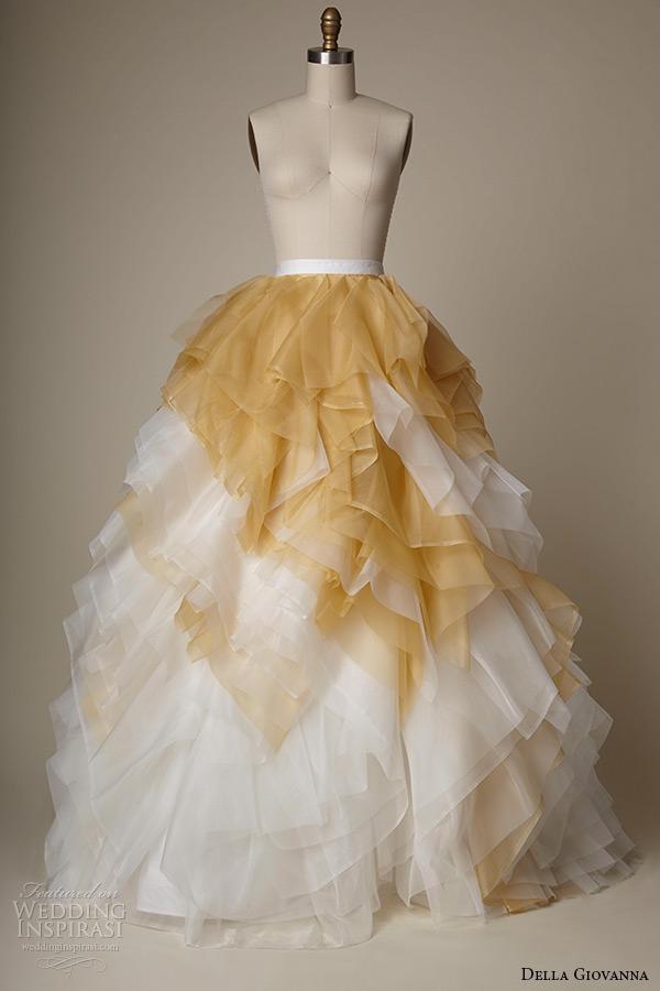 765ce96c5 della giovanna wedding dress 2015 bridal silk organza a line skirt with  ombre ruffles rose