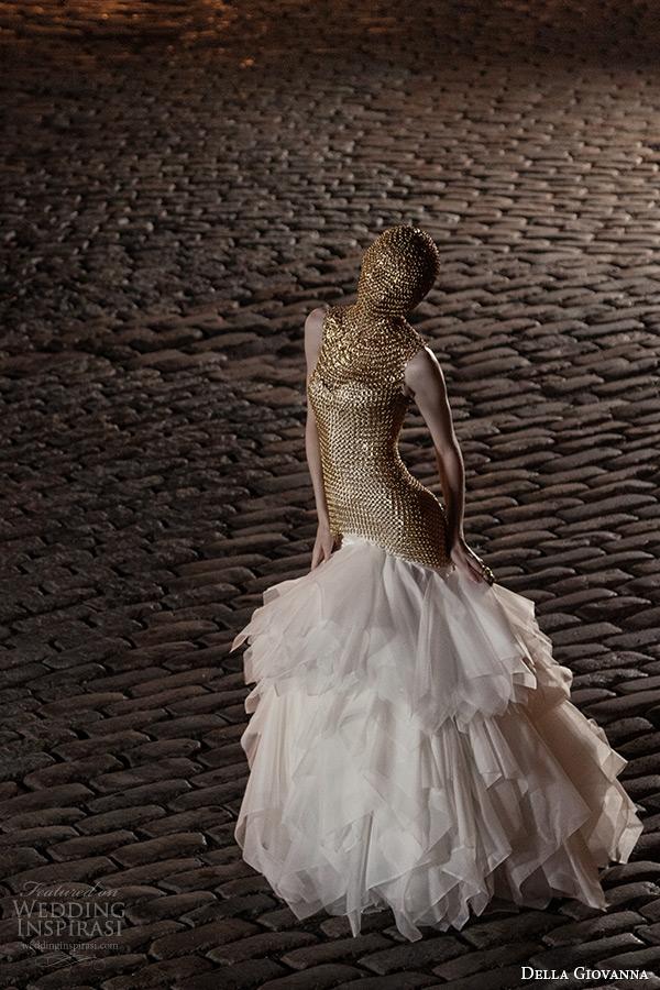 1daf16e5f ... ruffle ball gown skirt. della giovanna wedding dress 2015 bridal silk  satin sweetheart neckline corset charlie fit and flare organza