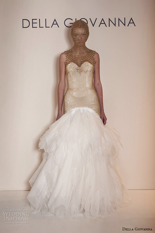 ce3690a41 della giovanna wedding dress 2015 bridal silk satin sweetheart neckline  corset charlie fit and flare organza