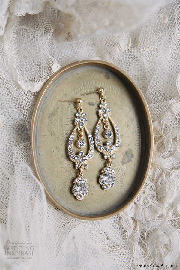 enchanted atelier liv hart bridal jewelry wedding accessories swarovski crystals drop earrings post closure june