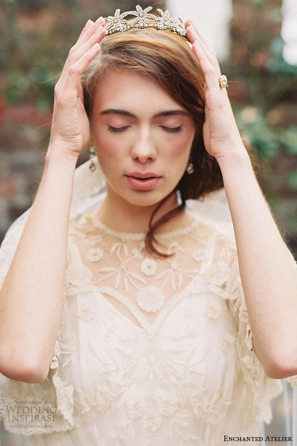 enchanted atelier liv hart bridal jewelry wedding accessories swarovski crystals starling tiara headband headpieces