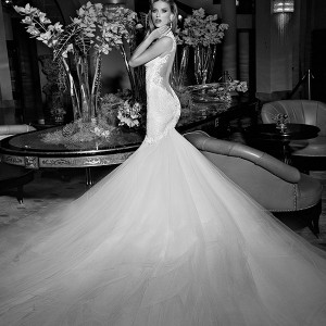 galia lahav 2015 jazz age wedding dress embroidered strap corset bodice blush ivory detachable tullet skirt train mermaid bridal gown loretta 1507