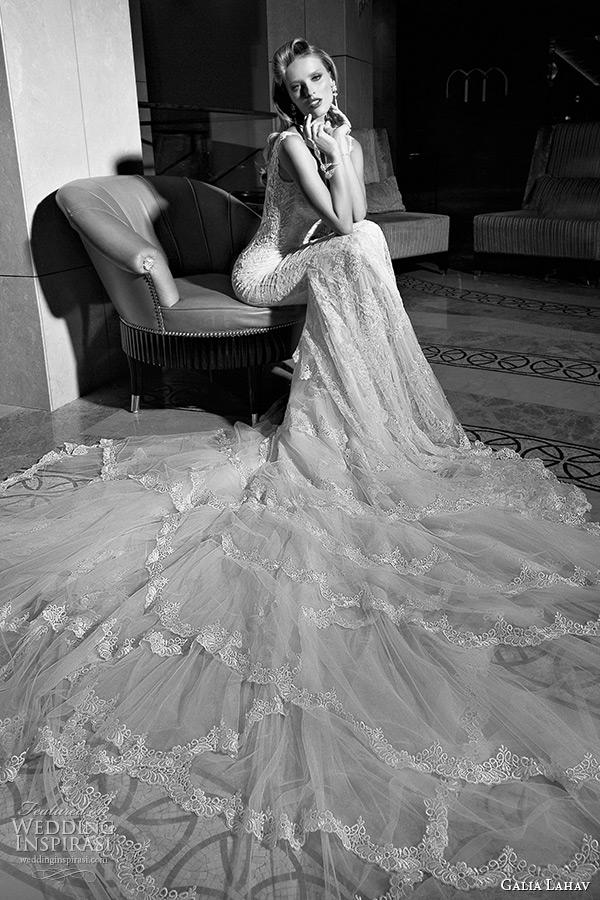 galia lahav 2015 jazz age wedding dress lace strap sweetheart neckline corset bodice low cut back mermaid bridal gown madison 1503 side