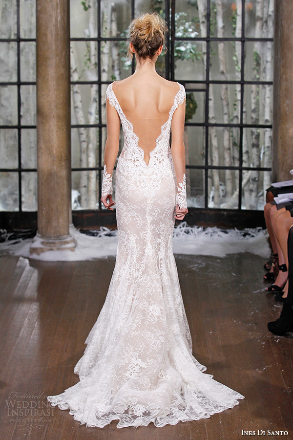 Ines di santo fall winter 2015 wedding dresses couture for Lace low back wedding dress
