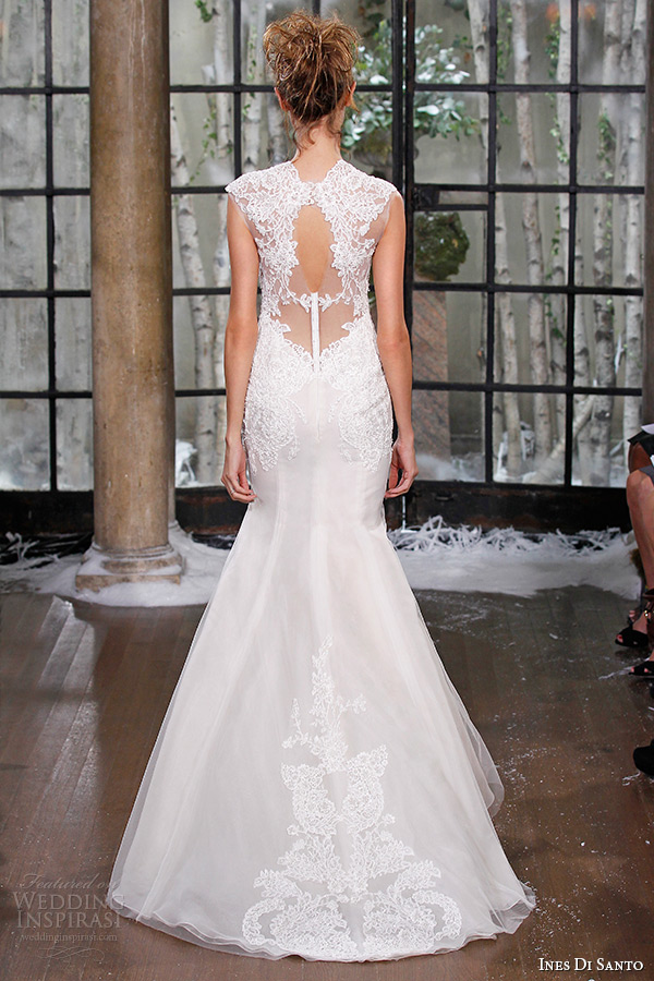 ines di santo fall winter 2015 couture wedding dress lace strap sweetheart neckline lace back mermaid bridal gown trieste back