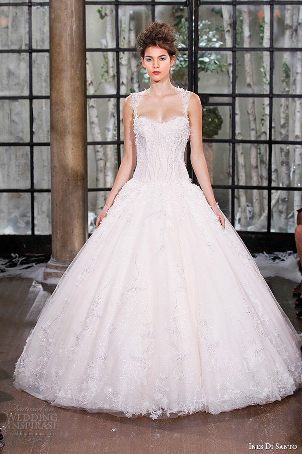 ines di santo fall winter 2015 couture wedding dress semi sweetheart neckline corset bodice bridal ball gown marseilles