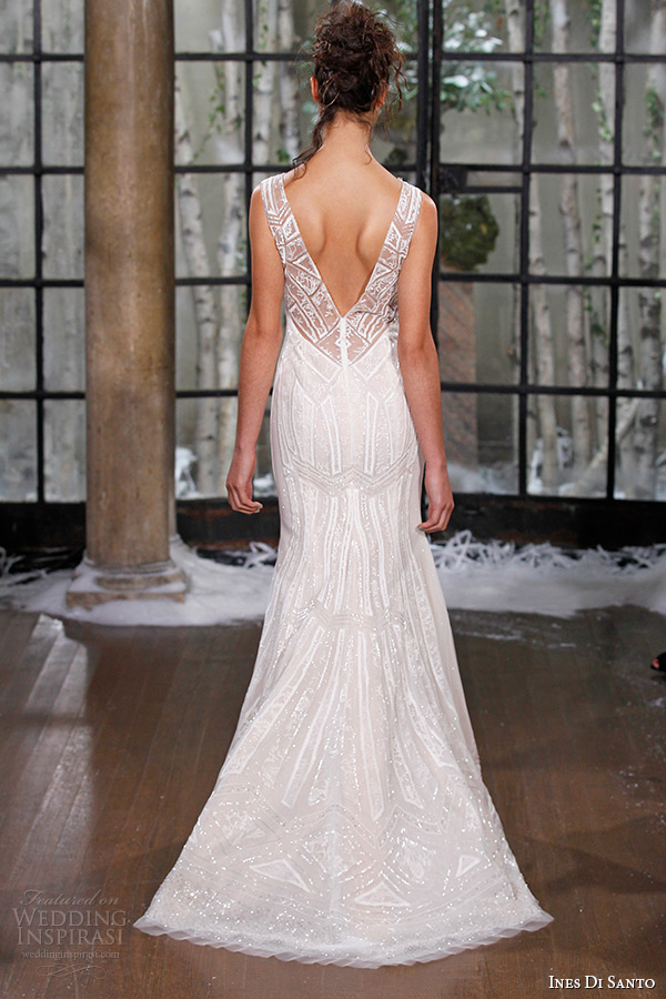 ines di santo fall winter 2015 couture wedding dress sleeveless deep sweetheart neckline seville back