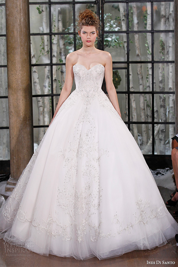 ines di santo fall winter 2015 couture wedding dress strapless sweetheart neckline beaded bodice bridal ball gown parma