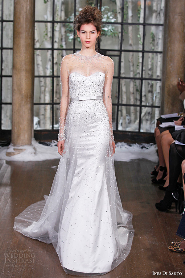 ines di santo fall winter 2015 couture wedding dress strapless sweetheart neckline low v back fit flare bridal gown paris