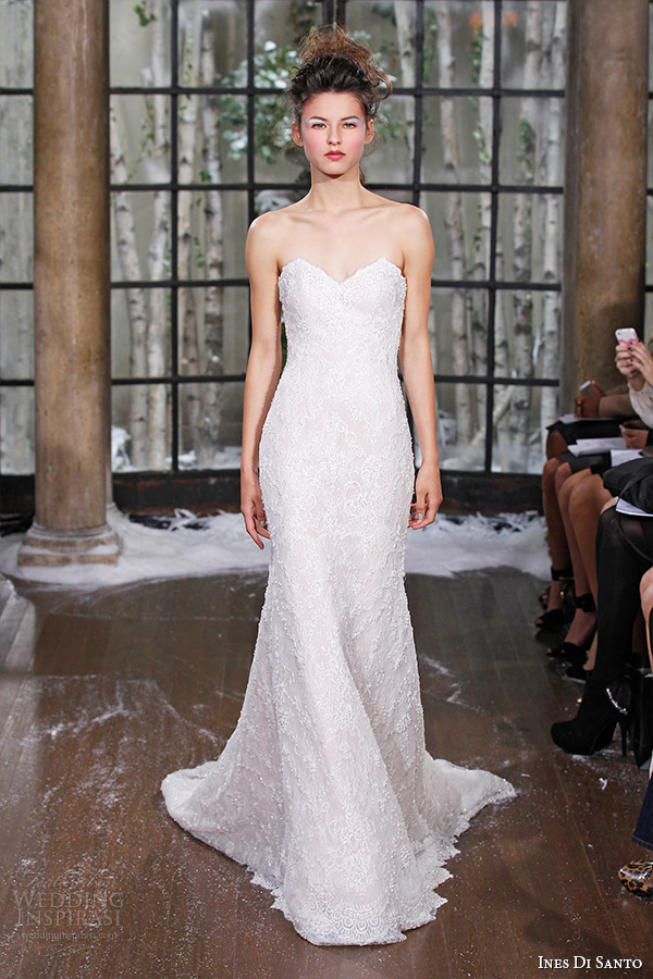ines di santo fall winter 2015 couture wedding dress strapless sweetheart neckline mermaid bridal gown berlin