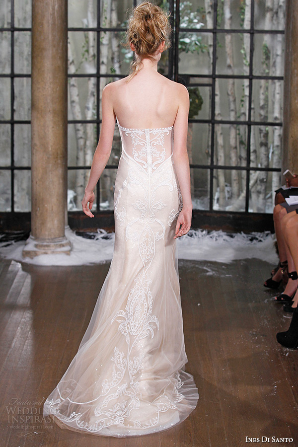 ines di santo fall winter 2015 couture wedding dress strapless sweetheart neckline mermaid bridal gown lisbon back