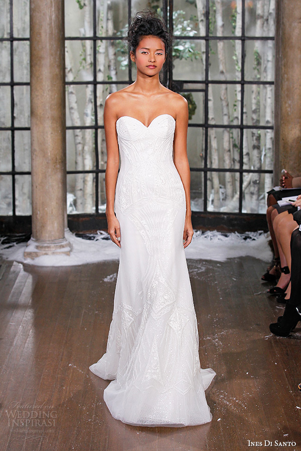 ines di santo fall winter 2015 couture wedding dress strapless sweetheart neckline mermaid bridal gown varna