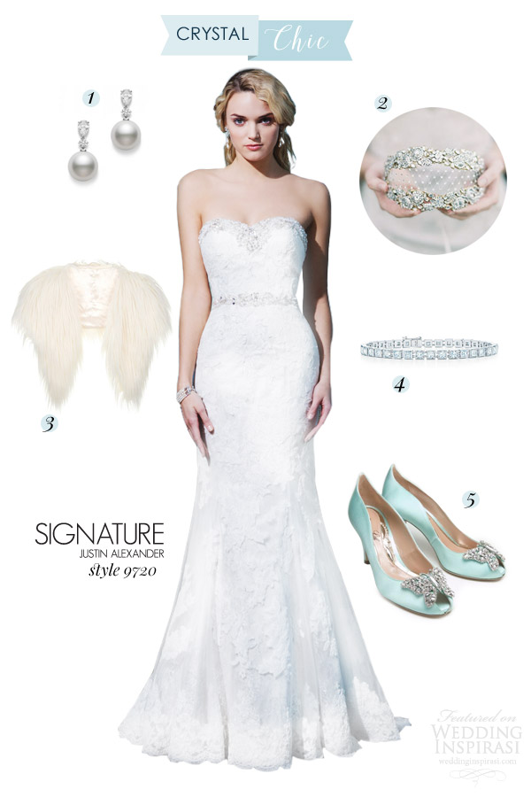 justin alexander signature bridal 9720 strapless crystal chic winter wedding dress style board