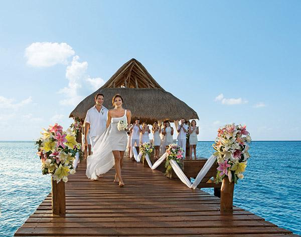 Secrets Resorts Spas Aura Cozumel Mexico Beach Destination Wedding Gazebo Sea