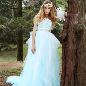 1e4da7a863 tiglily 2015 bridal amore japan romantic princess wedding dress strapless ball  gown floral print embroidery style c139