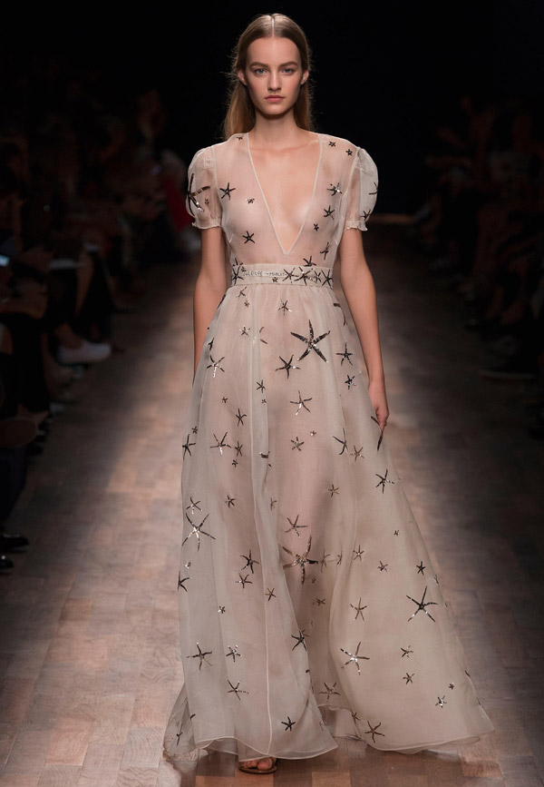 valentino spring 2015 ready to wear seastar starfish dress
