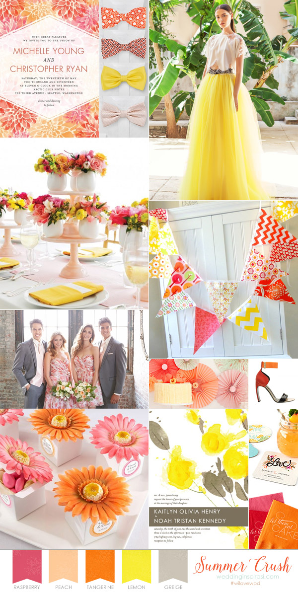 Summer Crush Fresh Floral Wedding Theme For Summer Wedding Inspirasi