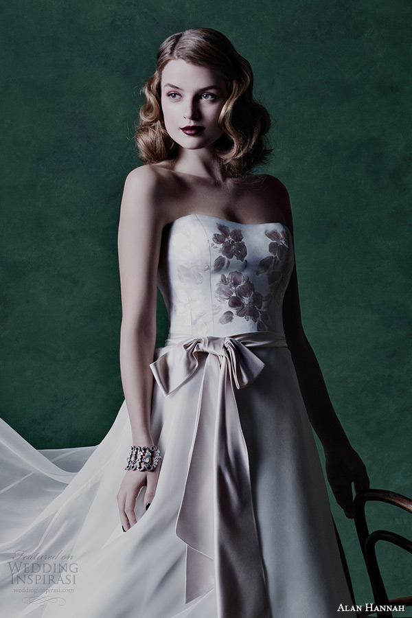 Alan hannah 2015 wedding dresses floral symphony for Painted on wedding dress