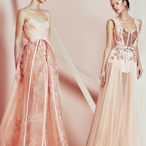 basil soda couture 2015 dresses champagne peach sleeveless gowns